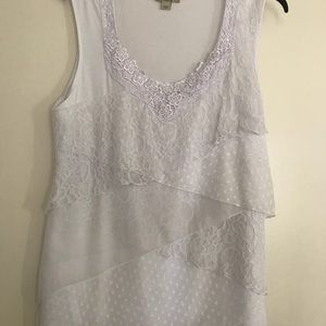 Lace embellished tank top